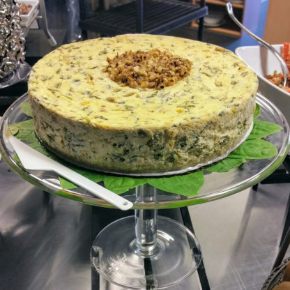 Collard Greens cheesecake