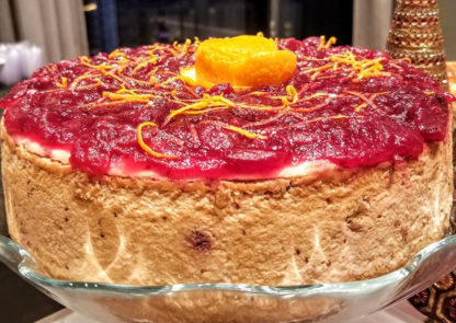 Savory Spiced Cranberry with Orange and Star Anise Cheesecake