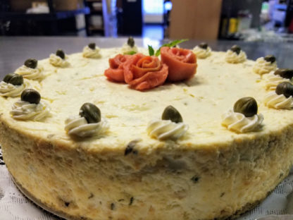 Smoked Salmon savory Cheesecake